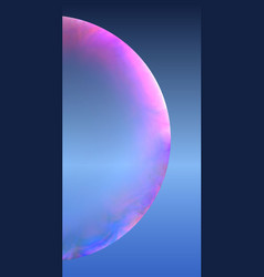 piece of soap bubble vector image