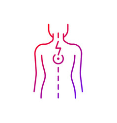 Pressure on spinal nerves gradient linear icon vector