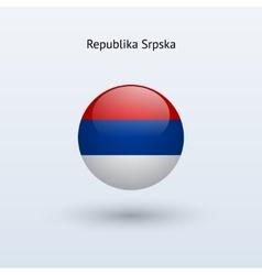 Republika Srpska round flag vector image