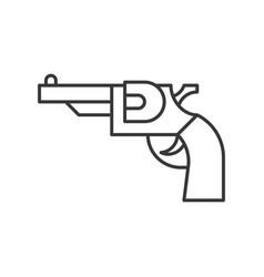 Revolver handgun police related icon editable vector