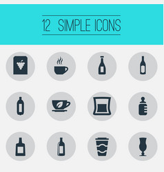 Set of simple water icons vector