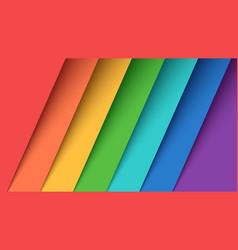set seven color paper rainbow vector image