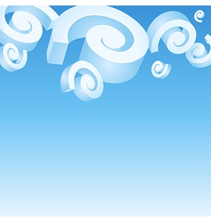 Spiral clouds vector