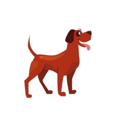 Standing Brown Dog with a Spot on Ear vector image