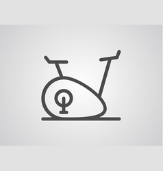 stationary bicycle icon isgn symbol vector image