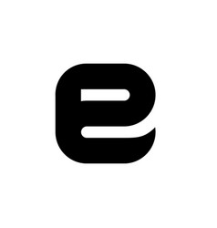 symbols of black letter e vector image