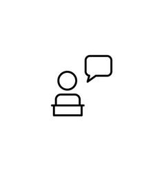 talk discussion icon vector image