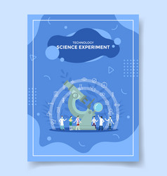 Technology science experiment people scientist vector