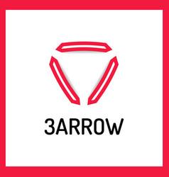 trinity arrow reactor logo vector image