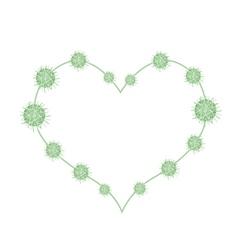 Urena Lobata Fruits in A Heart Shape vector image