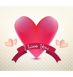 Valentines card poster banner vector image