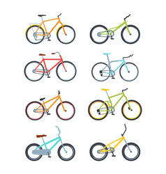 variety modern bikes flat vector image