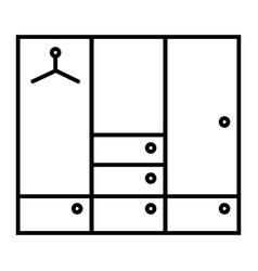 Wardrobe thin line icon closet vector