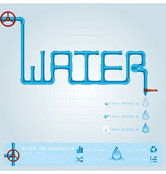 Water Pipe Business Infographic vector