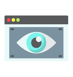 Web visibility flat icon seo and development vector