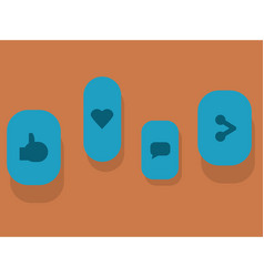with icons of social networks vector image