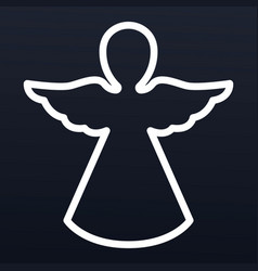xmas angel icon outline style vector image