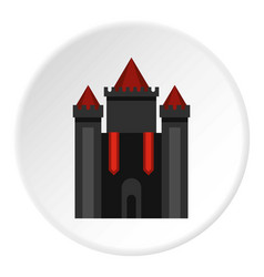 ancient fort icon circle vector image