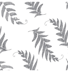 branches and leaves grey vector image vector image