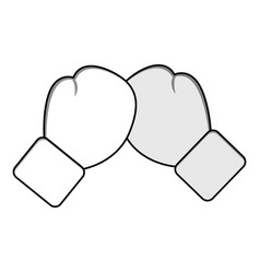 figure boxing play and gloves icon vector image vector image