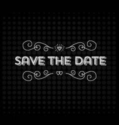 Save the date invitation header vector image vector image