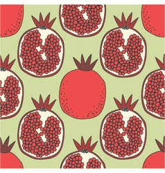 seamless fruit pattern of pomegranates vector image
