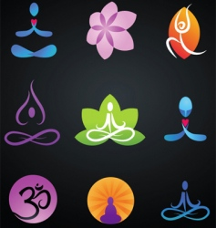 zen and yoga logos vector image vector image