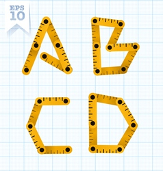 Measuring folding ruler flat abc vector image vector image