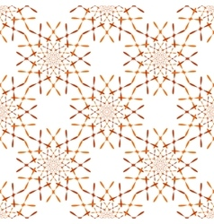 pattern with ornament on grunge background vector image