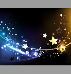 abstract background with contrasting stars vector image