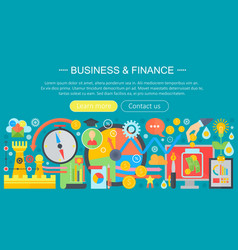 business and finance banking flat icons concept vector image