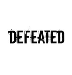 Defeated typographic stamp vector