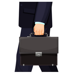 man in suit carrying leather briefcase vector image vector image