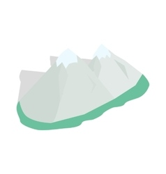 Swiss alps icon isometric 3d style vector image vector image