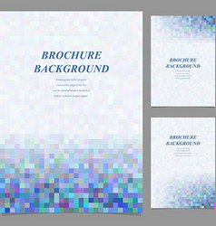 Abstract geometric page template background set vector image vector image