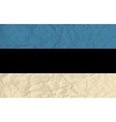 Estonia paper flag vector