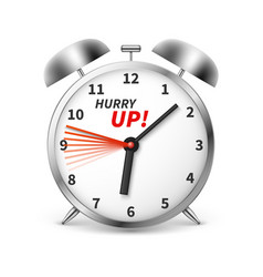hurry up concept background with alarm vector image vector image