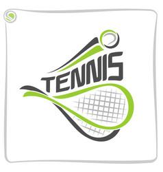 racket of lawn tennis vector image