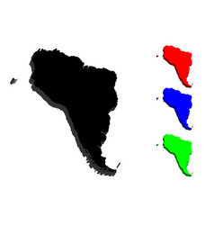 3d map of south america vector image