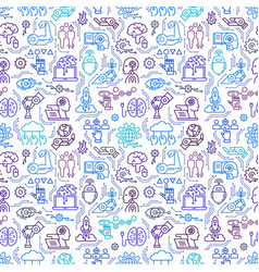 A seamless pattern robots androids artificial vector