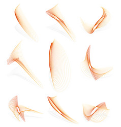 Abstract graphics made of thin lines blended vector