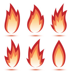 abstract red flame icon vector image