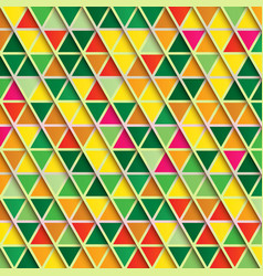 abstract triangle background multicolor pattern vector image