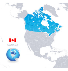 administrative blue canada map vector image