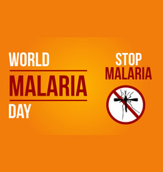 Background for malaria day sign vector