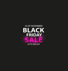 beautiful black friday background advertising vector image