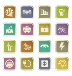 bio fuel industry icons set vector image