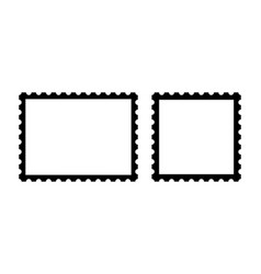 Blank postage stamps set blank postage stamps vector