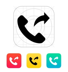 Call forwarding icon vector