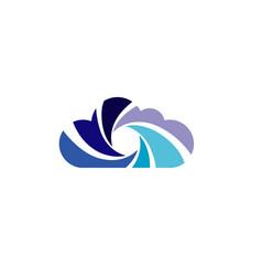 Cloud camera design logo vector